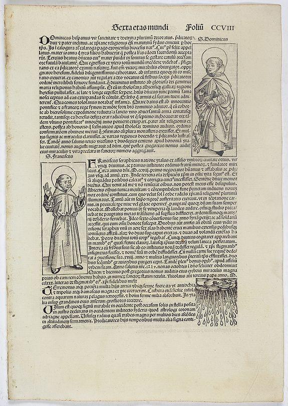 SCHEDEL, H. -  Sexta Etas Mundi. Folium. CCVIII