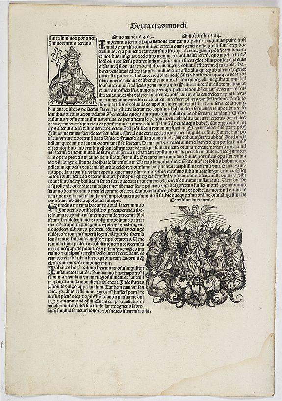 SCHEDEL, H. -  Sexta Etas Mundi. Folium. CCVI