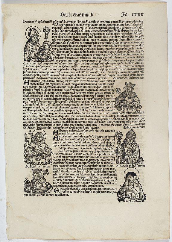 SCHEDEL, H. -  Sexta Etas Mundi. Folium. CCIIII.