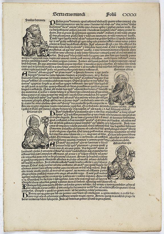 SCHEDEL, H. -  Sexta Etas Mundi. Folium. CXXXI
