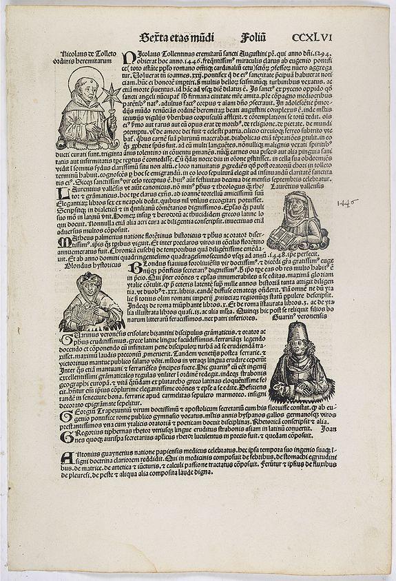 SCHEDEL, H. -  Sexta Etas Mundi. Folium. CCXLVI
