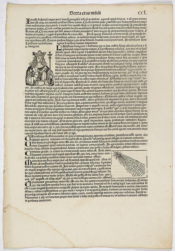 SCHEDEL, H. -  Sexta Etas Mundi. Folium. CCL