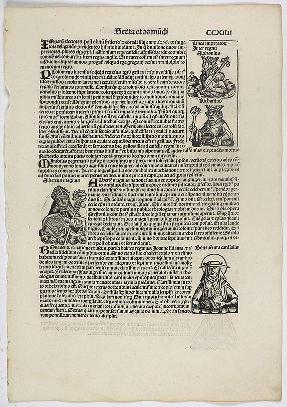 SCHEDEL, H. -  Sexta Etas Mundi. Folium. CCXIIII