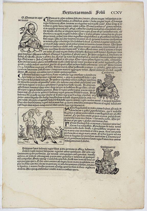 SCHEDEL, H. -  Sexta Etas Mundi. Folium. CCXV