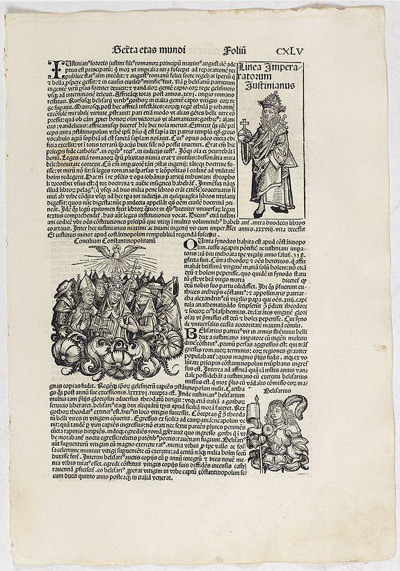 SCHEDEL, H. -  Sexta Etas Mundi. Folium. CXLV.