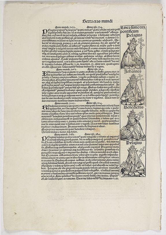 SCHEDEL, H. -  Sexta Etas Mundi. Folium. CXLVI