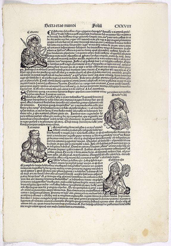 SCHEDEL, H. -  Sexta Etas Mundi. Folium. CXXVIII