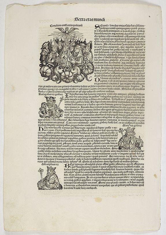 SCHEDEL, H. -  Sexta Etas Mundi. Folium. CXXXV