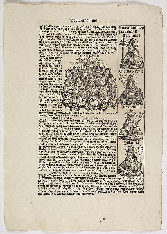 SCHEDEL, H. -  Sexta Etas Mundi. Folium. CXXXVI