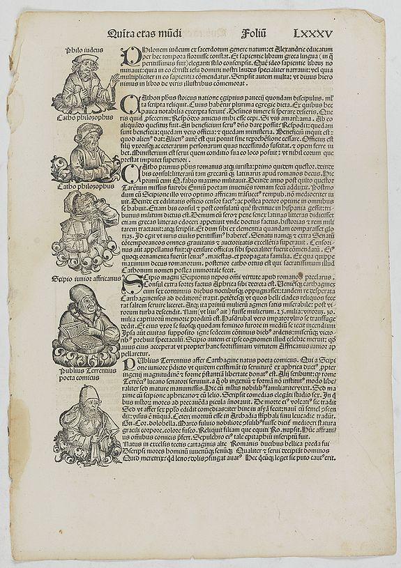 SCHEDEL, H. -  Quinta Etas Mundi. Folium. LXXXV