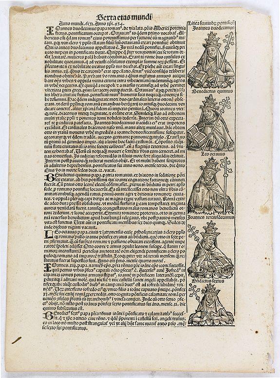 SCHEDEL, H. -  Sexta Etas Mundi. Folium. CLXXVIII