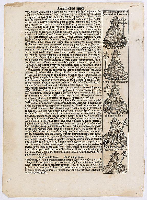 SCHEDEL, H. -  Sexta Etas Mundi. Folium. CLXXXI
