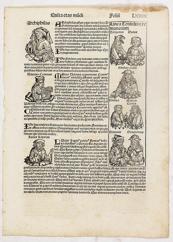 SCHEDEL, H. -  Quinta Etas Mundi. Folium. LXXIX