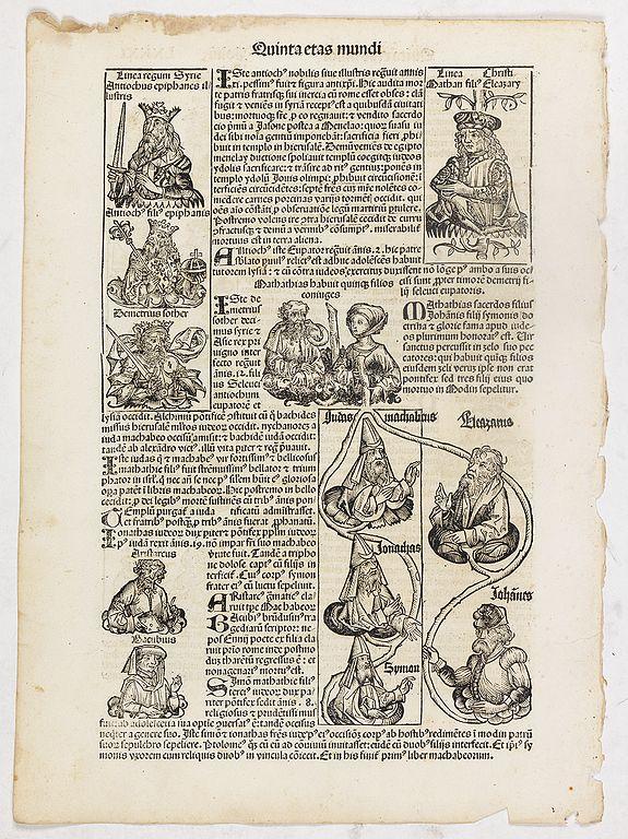 SCHEDEL, H. -  Quinta Etas Mundi. Folium. LXXXI
