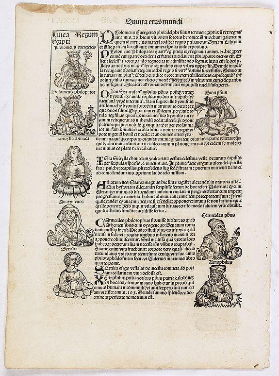 SCHEDEL, H. -  Quinta Etas Mundi. Folium. LXXVIII