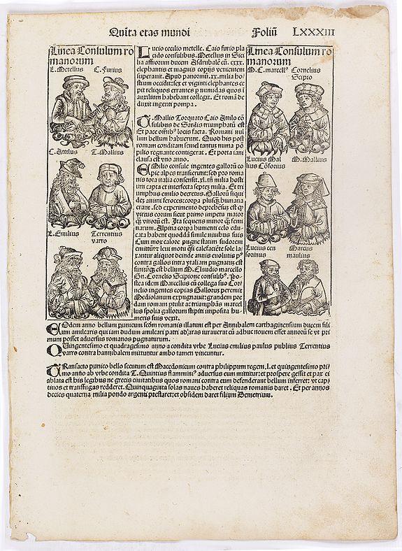 SCHEDEL, H. -  Quinta Etas Mundi. Folium. LXXXIII