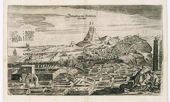 OLEARIUS, A. -  View of Derbendt an der Persischen Grentze.