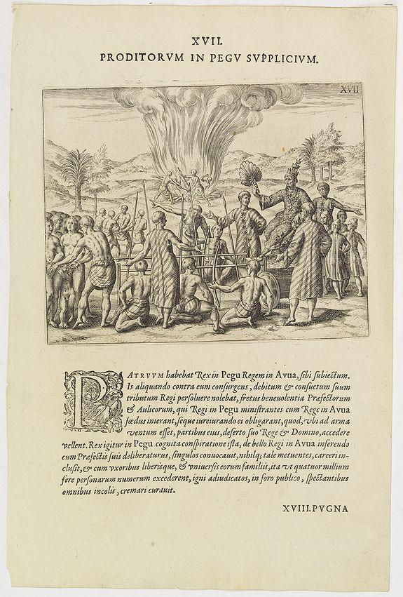 DE BRY, Th. -  XVII. Proditorum in Pegu Supplicium.
