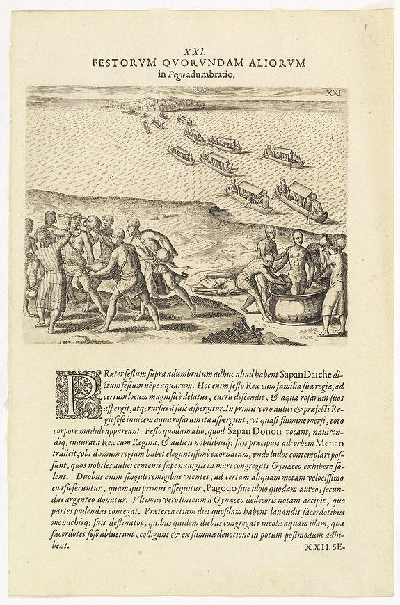 DE BRY, Th. -  XXI. Festorum Quorundam Aliorum in Pegu. (Other festivities in the kingdom of Pegu]