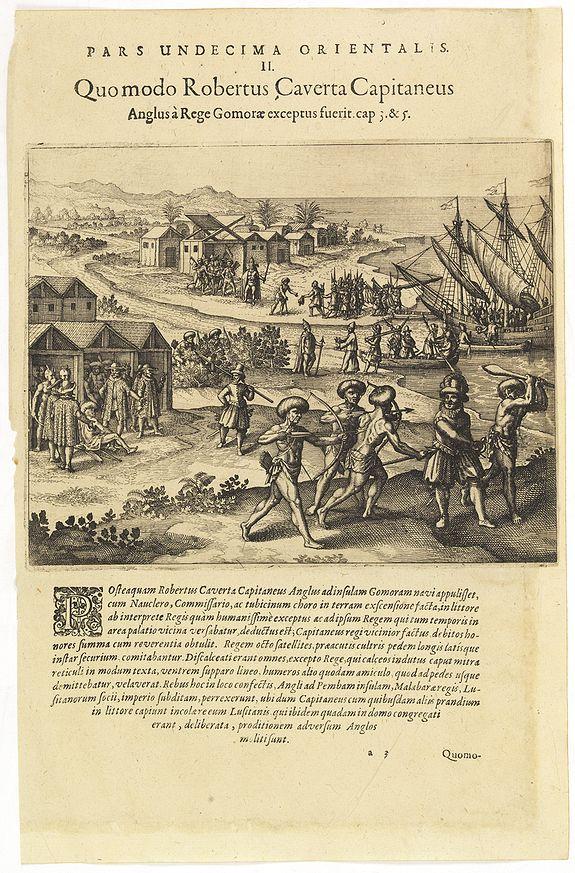 DE BRY, Th. -  Pars Undecima Orientalis II. Quomodo Robertus, Caverta Capitaneus.