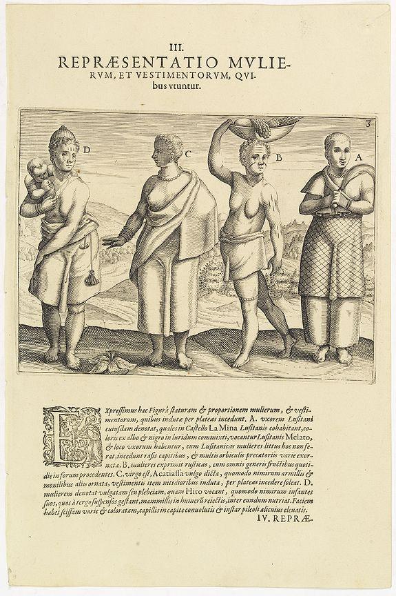 DE BRY, Th. -  III. Repraesentatio Mullierum, et vestimentorum, Quibus Utuntur.