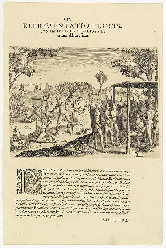 DE BRY, Th. -  VII. Repraesentatio Processus in Iudiciis Civilibus et Criminalibus Ufitati. (Courts and Administration of Justice)