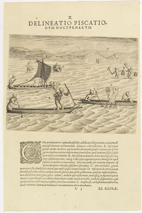 DE BRY, Th. -  X. Delineatio Piscationum Nocturnarum.