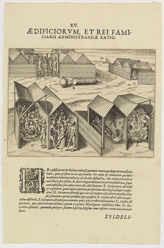 DE BRY, Th. -   XV. Aedificiorum, et Rei Familiaris Administandae Ratio.