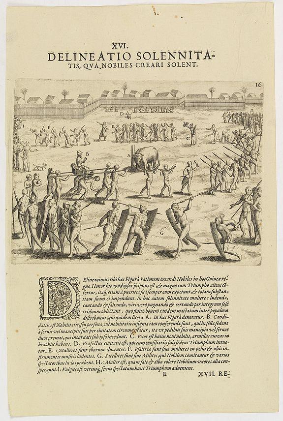 DE BRY, Th. -   XVI. Delineatio Solennitatis, qua Nobiles Creari Solent.