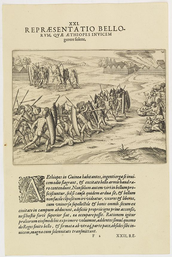 DE BRY, Th. -   XXI. Repraesentatio Bellorum, Quae Aethiopes Invicem . . .