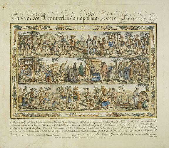 GRASSET DE SAINT SAUVEUR, Jacques -  Tableau des Decouvertes du Cap.ne Cook, & de la Pérouse.