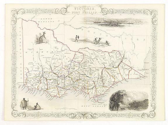 TALLIS, J. -  Victoria or Port Phillip.