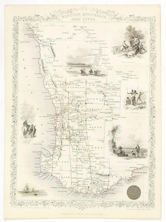TALLIS, J. -  Western Australia. Swan River.