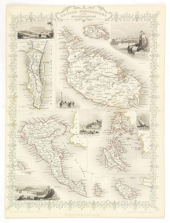 TALLIS, J. - British possessions in the Mediterranean.