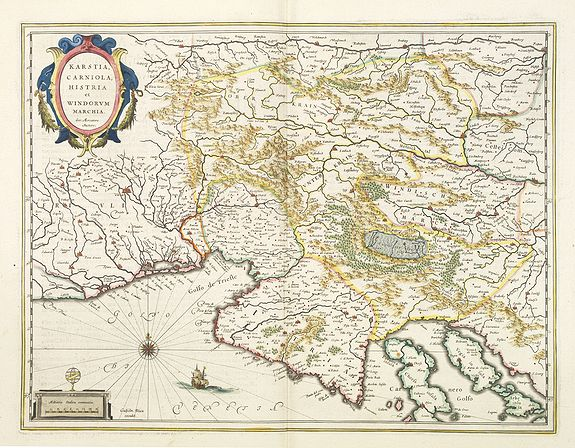 BLAEU, W. -  Karstia, Camiola, Histria et Windorum Marchia.