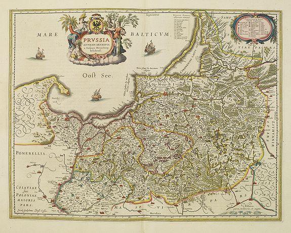 BLAEU, W. -  Prussia accurate descriptia a Gasparo Henneberg Erlichensi.