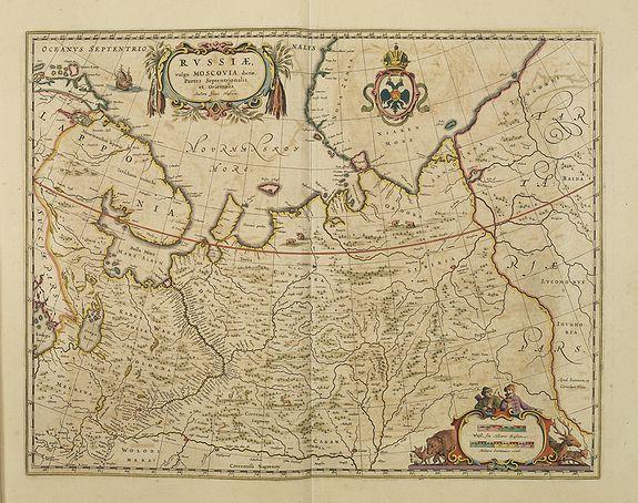 BLAEU, J.& C. -  Russiae vulgo Moscovia dictae, Partes Septentrionalis et orientalis.
