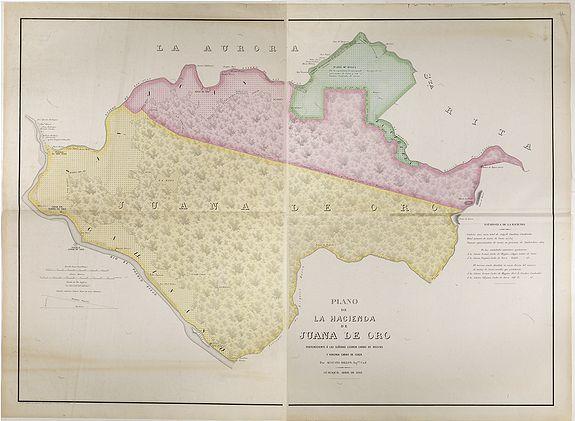 DILLON, A. -  Plano de la Hacienda de Juana de Oro.