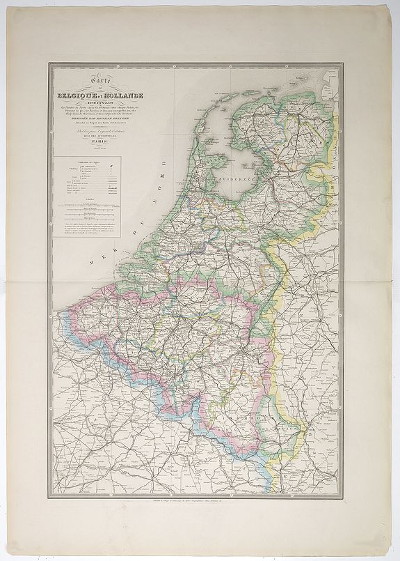 GRANGER, E. -  Carte de Belgique et Hollande.