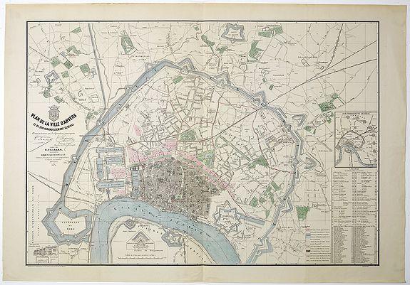TESSARO, F. -  Plan de la ville d