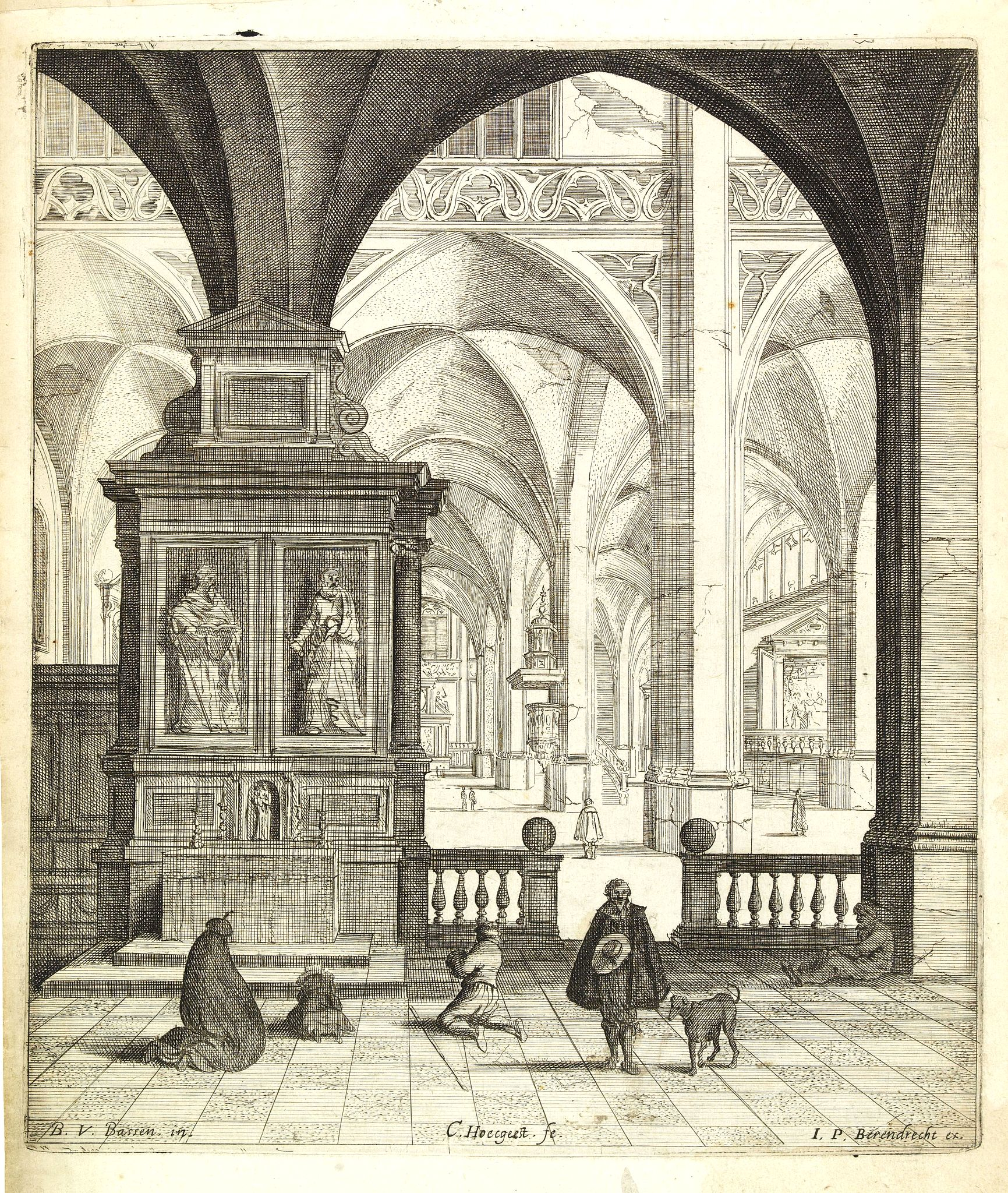 HOECGEEST, C. -  [Interior of a church)