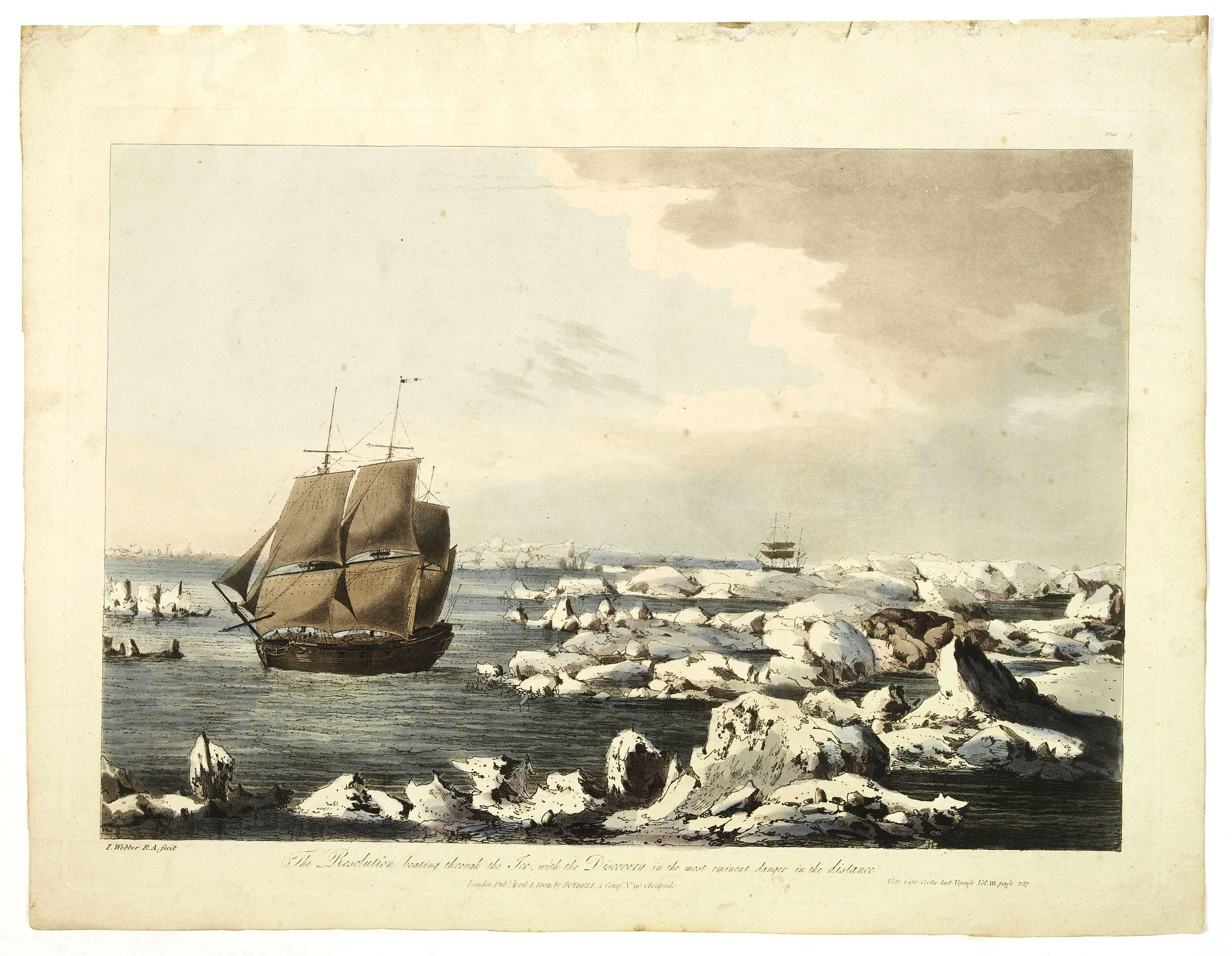 WEBBER, J. -  The resolution beating through the ice, with the discovery in the most eminent danger in the distance.