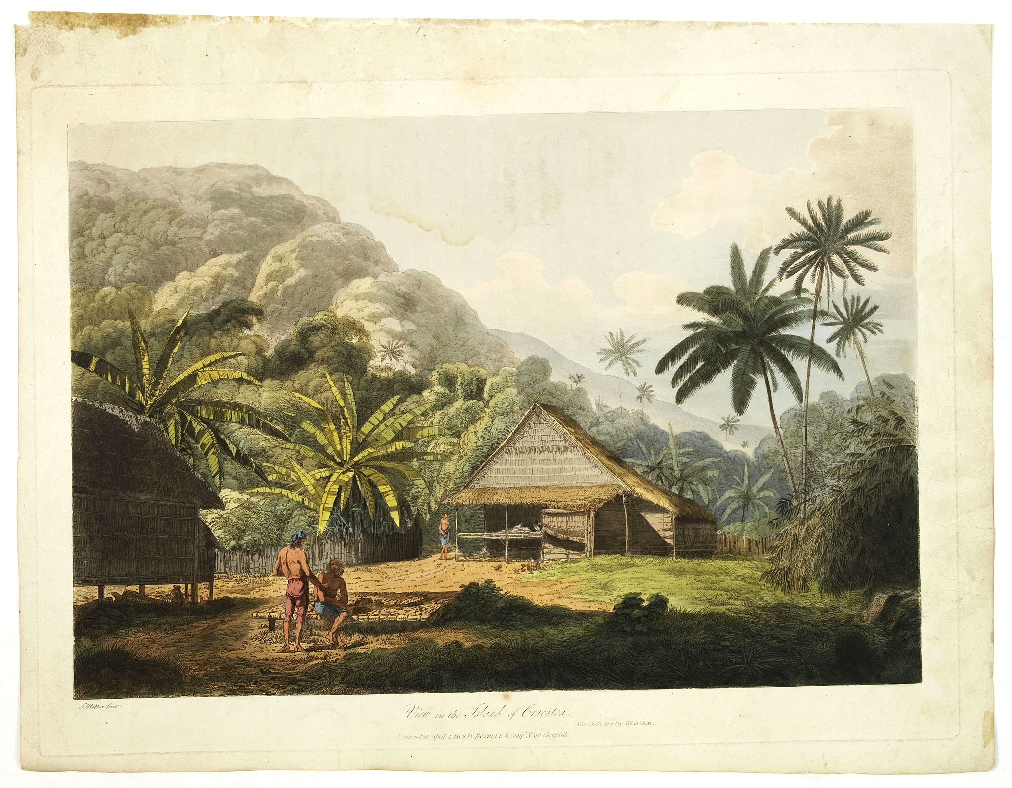 WEBBER, J. -  View in the island of Cracatoa.