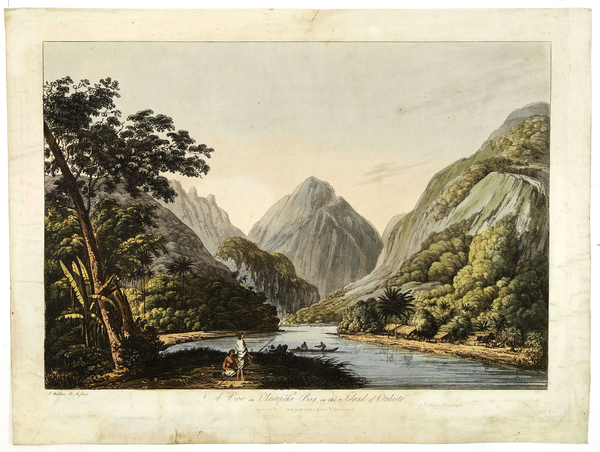 WEBBER, J. -  A view in Oheitepeha Bay in the Island of Otaheite. (Tahiti)