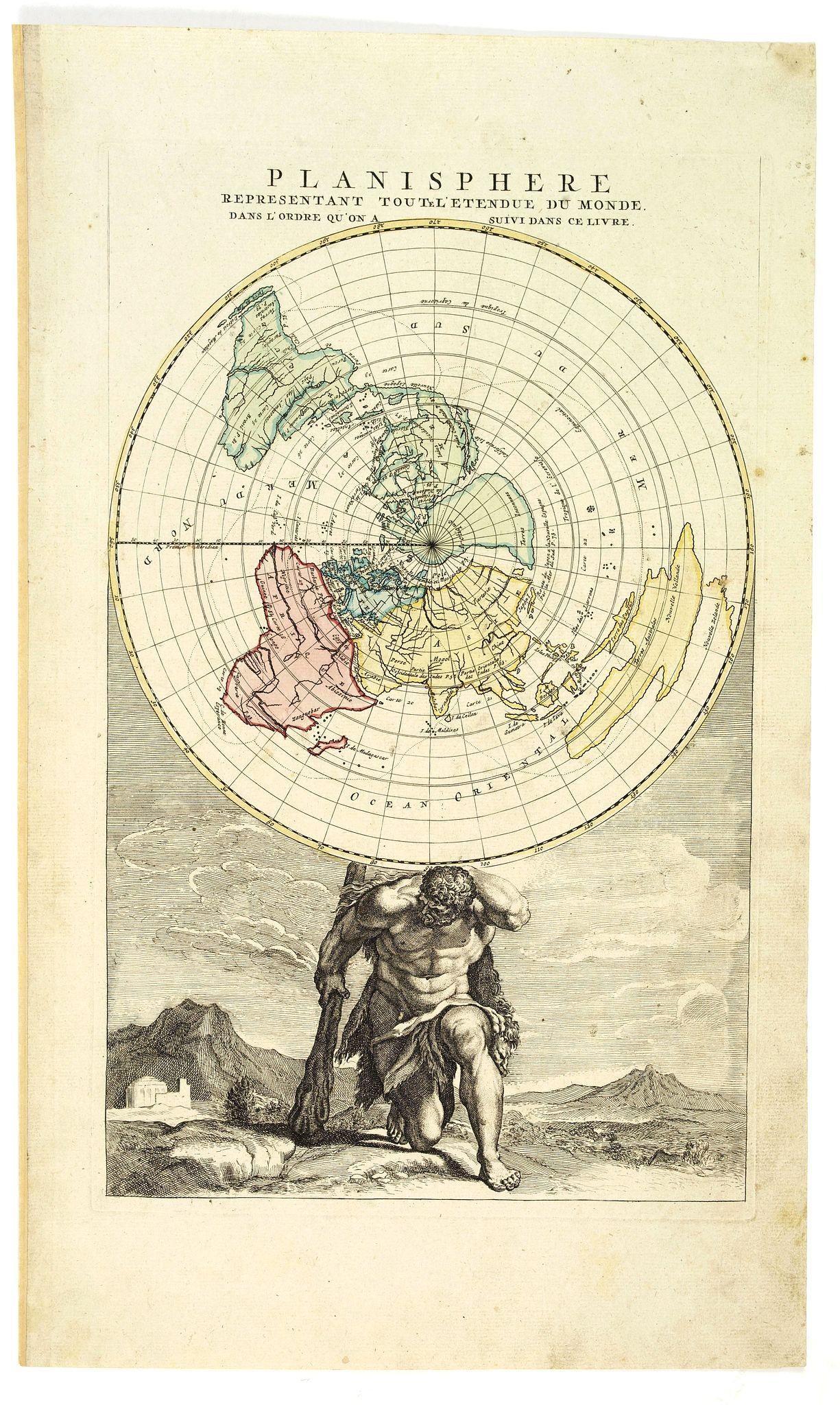 ELWE, J. B. - [Title page] Planisphere representant tout e l'etendue du monde . . .