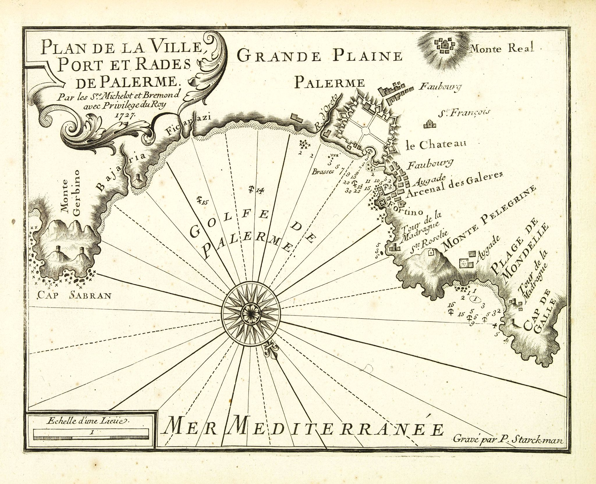 MICHELOT, H. / BREMOND, L. -  Plan de la Ville, Port et rades de Palerme. . .