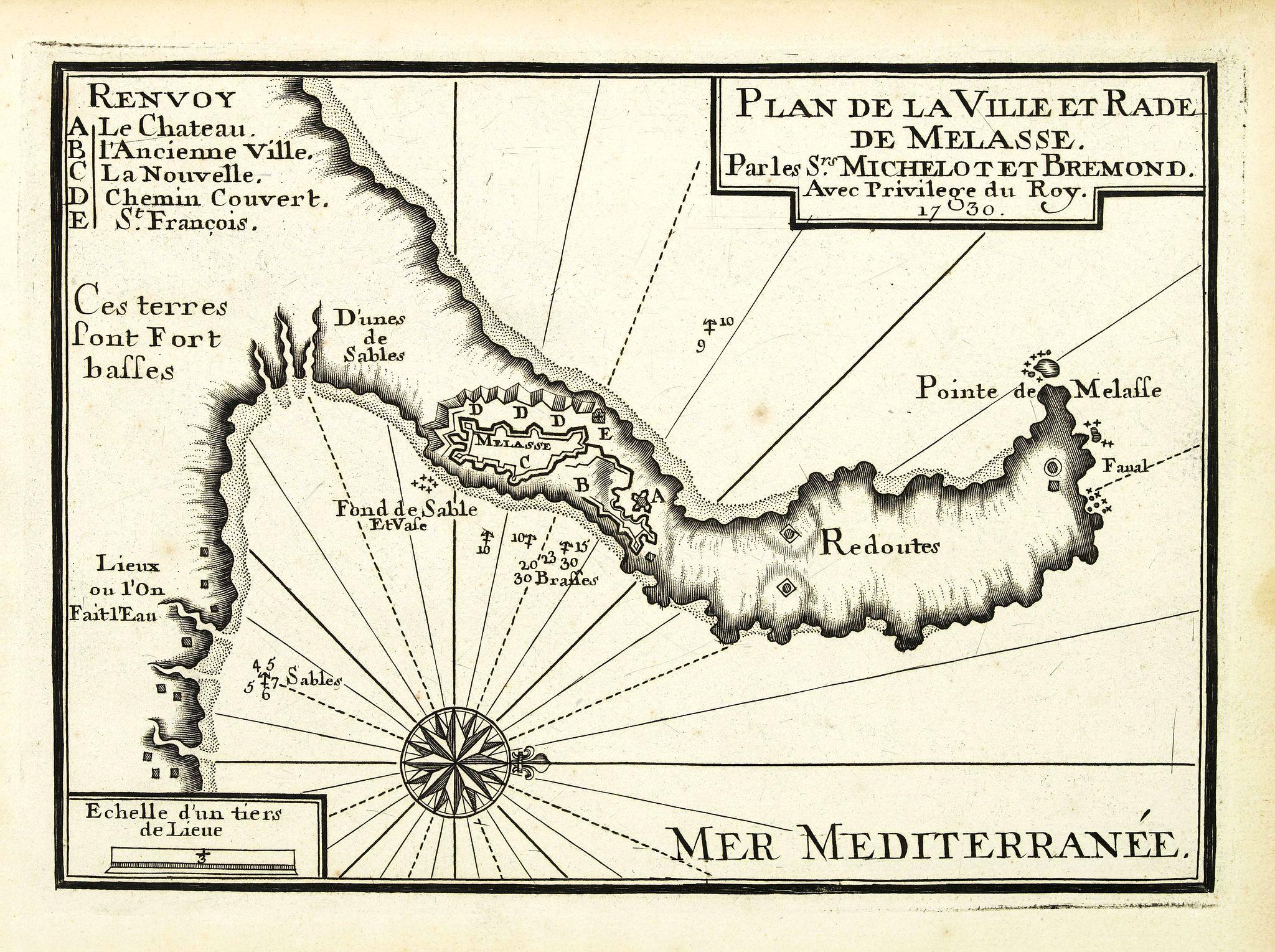 MICHELOT, H. / BREMOND, L. -  Plan de la Ville et Rade de Melasse.