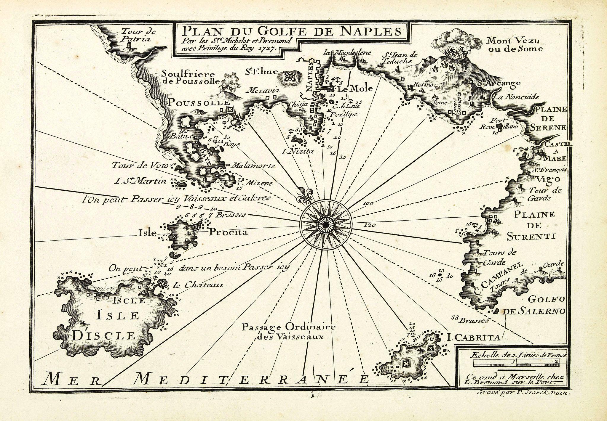 MICHELOT, H. / BREMOND, L. -  Plan du Golfe de Naples.