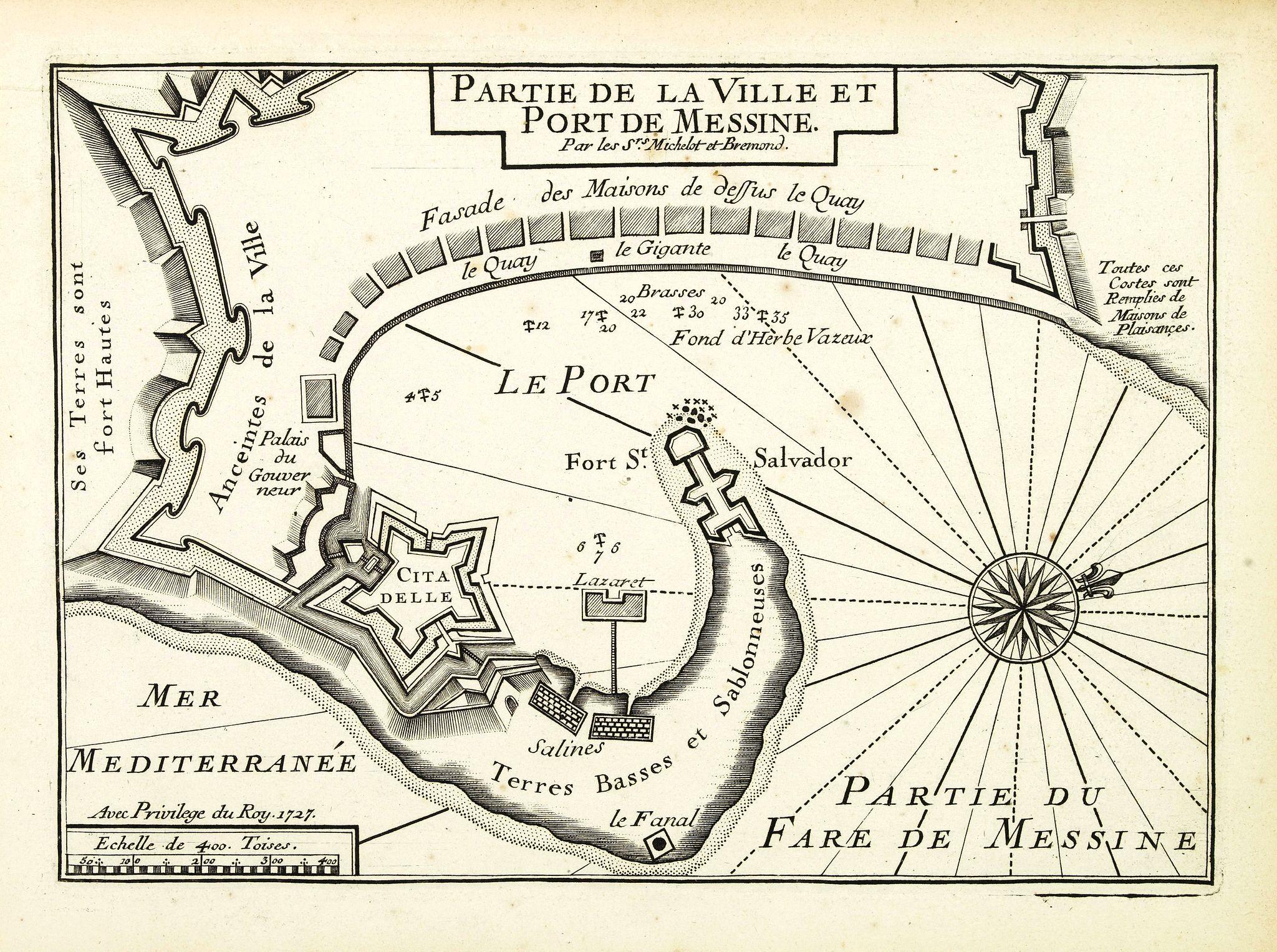 MICHELOT, H. / BREMOND, L. -  Plan de la Ville et Port de Messine.