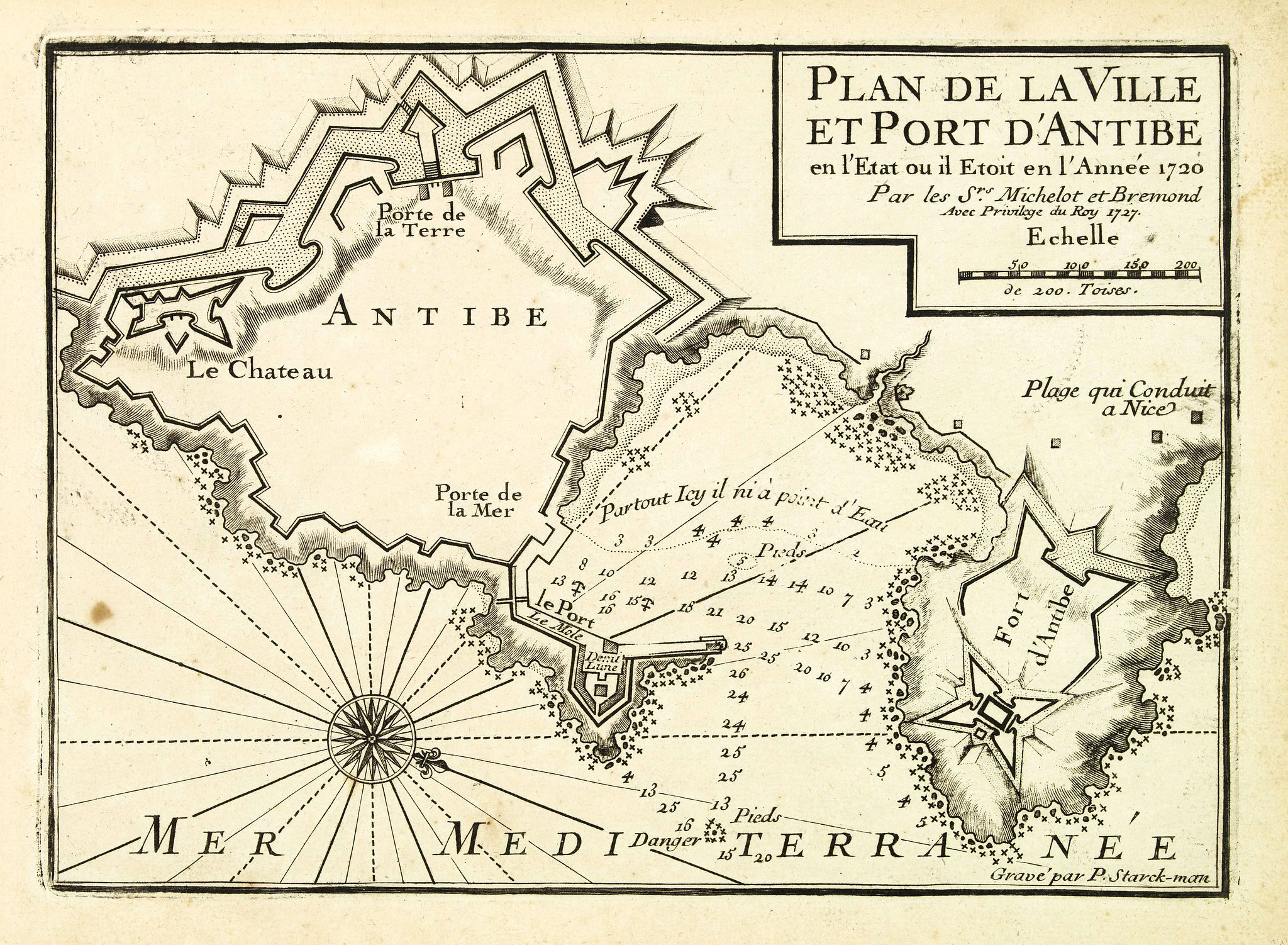 MICHELOT, H. / BREMOND, L. -  Plan de la Ville et Port d'Antibes.